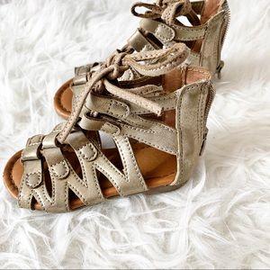 Champagne Gold Gladiator Sandals